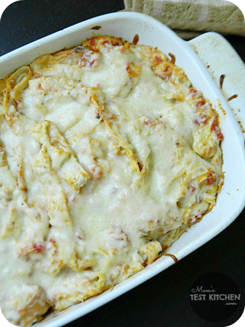 Simple Chicken Tortilla Casserole | www.momstestkitchen.com