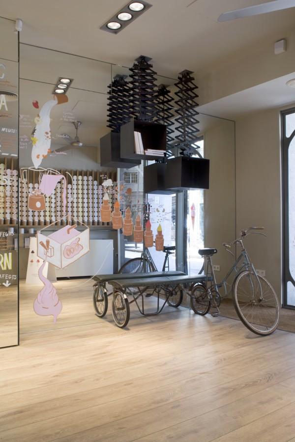 Una heladería de diseño | El Blog de los Muebles de Hostelería