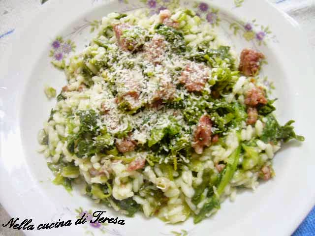Nella cucina di teresa risotto broccoli e salsiccia - Nella cucina di teresa ...