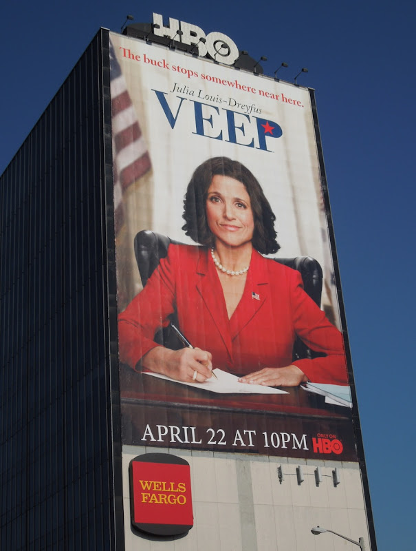 Giant Veep billboard Sunset Strip