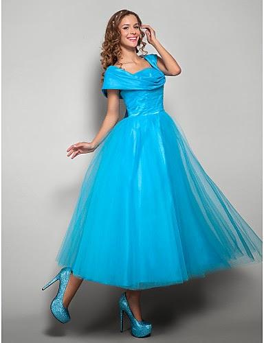 Vestido de Fiesta Azul de Tul