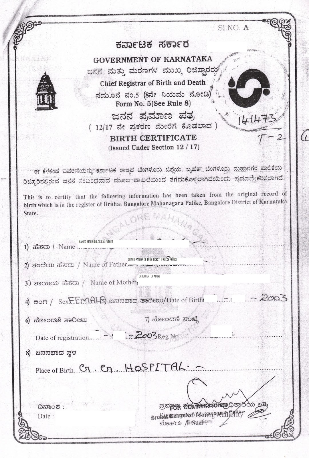 Bbmp birth certificate sample images certificate design and template birth certificate sample karnataka images certificate design and bbmp birth certificate sample gallery certificate design and aiddatafo Image collections