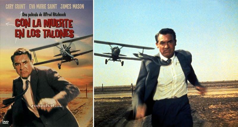 historia del cine a través de los carteles_Con la muerte en los talones