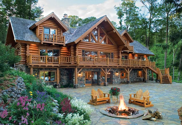 huge ass log cabin