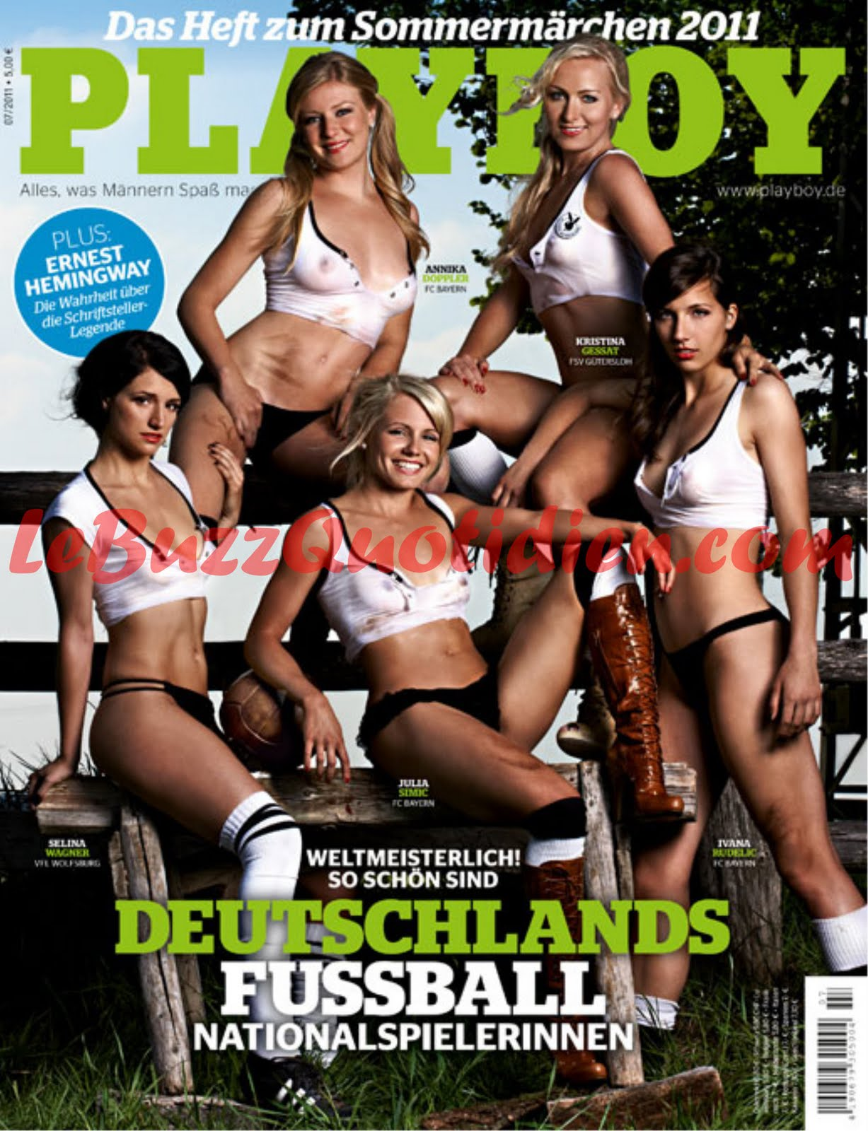 footballeuses allemandes nues playboy joueuses allemagne