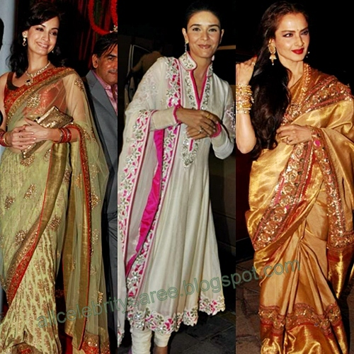 All Celebrities Sarees Designs