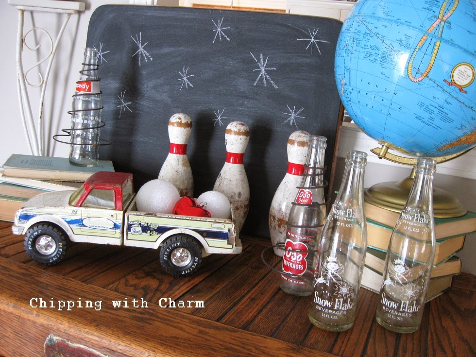Chipping with Charm:  Toy Truck Valentine Vignette...http://chippingwithcharm.blogspot.com/