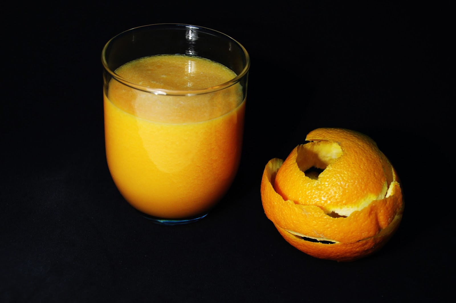 Xumo de papaya y naranja