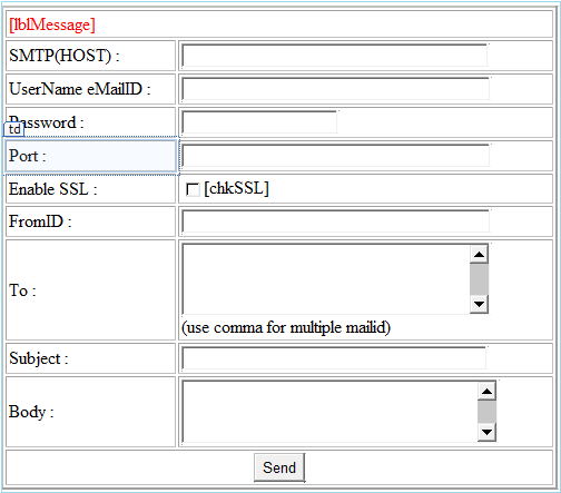 how to send a query to axis by email