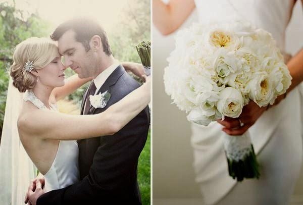 """Hoa cưới đẹp 1 màu """" ton sur ton"""" không hề đơn điệu3"""