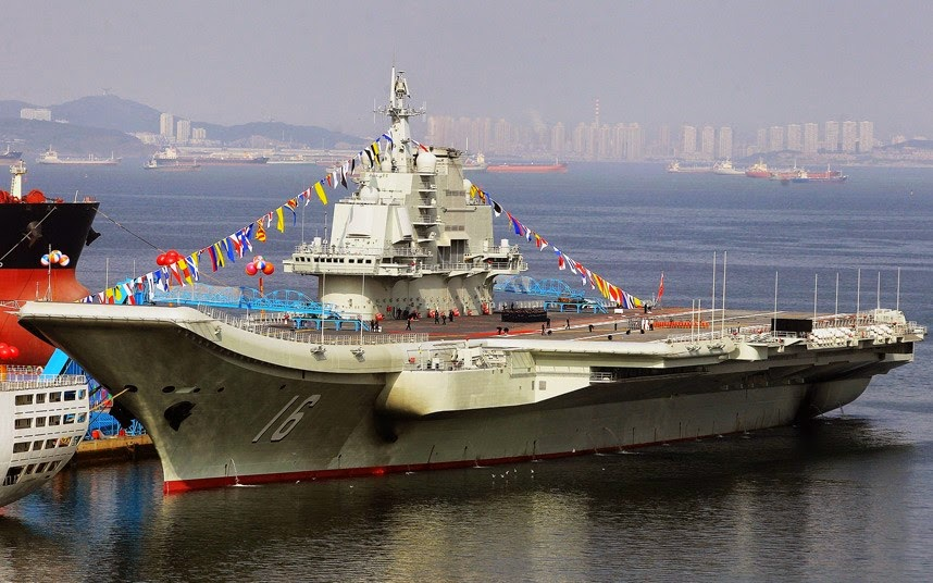 Name of the Warship: Liaoning aircraft carrier, China