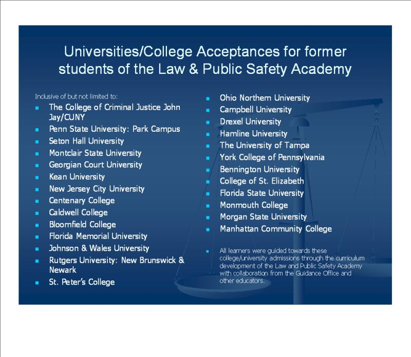 Community Safety Volunteer Academy: Law And Public Safety Academy: ECVTS, N13th St