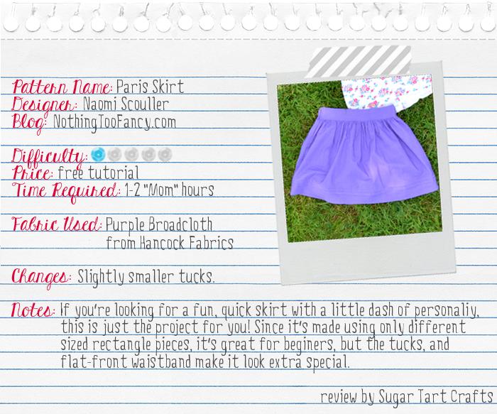 Pattern Review: Nothing Too Fancy's Paris Skirt Tutorial