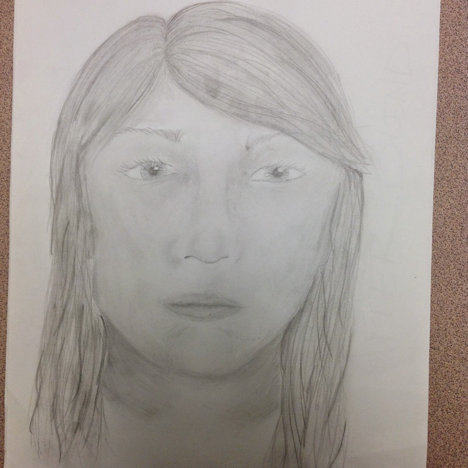 8th Grade Portrait Step by Step Drawing Art Lesson