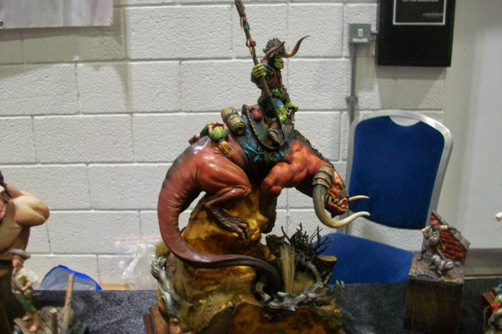 Dragon lizard model snapped from salute 2015