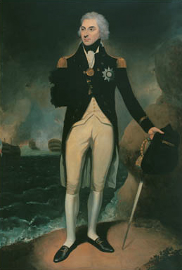 painting of admiral nelson by william berczy