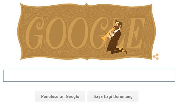 Adolphe SAX Menjadi Logo Google Di Ultah Ke 201Seorang Seniman Saksofon