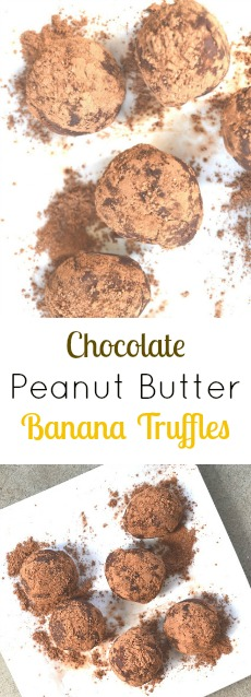Chocolate Peanut Butter Banana Truffles