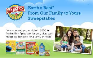 Earth's Best From Our Family to Yours Sweepstakes