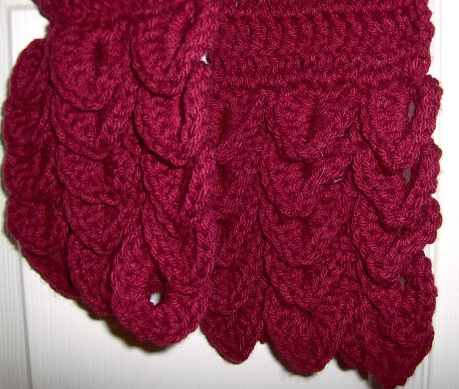 Birdies Crochet And Craft Gator Scarf