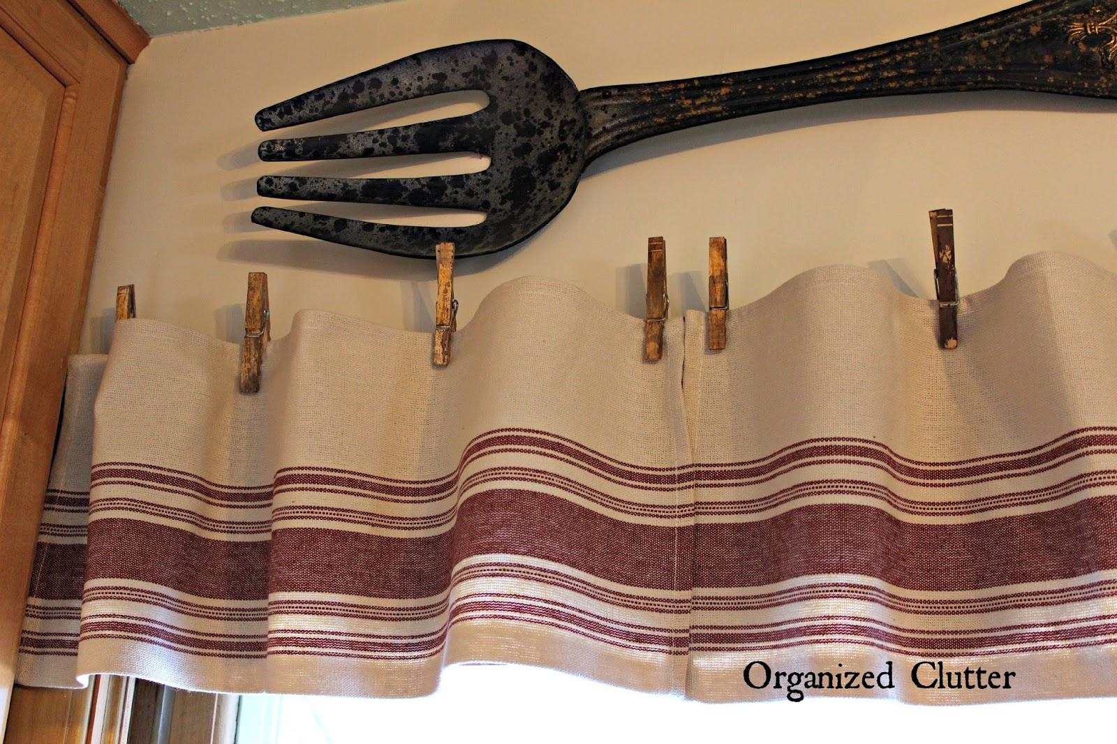Easy Grain Sack Dish Towel Farmhouse Valance Organized