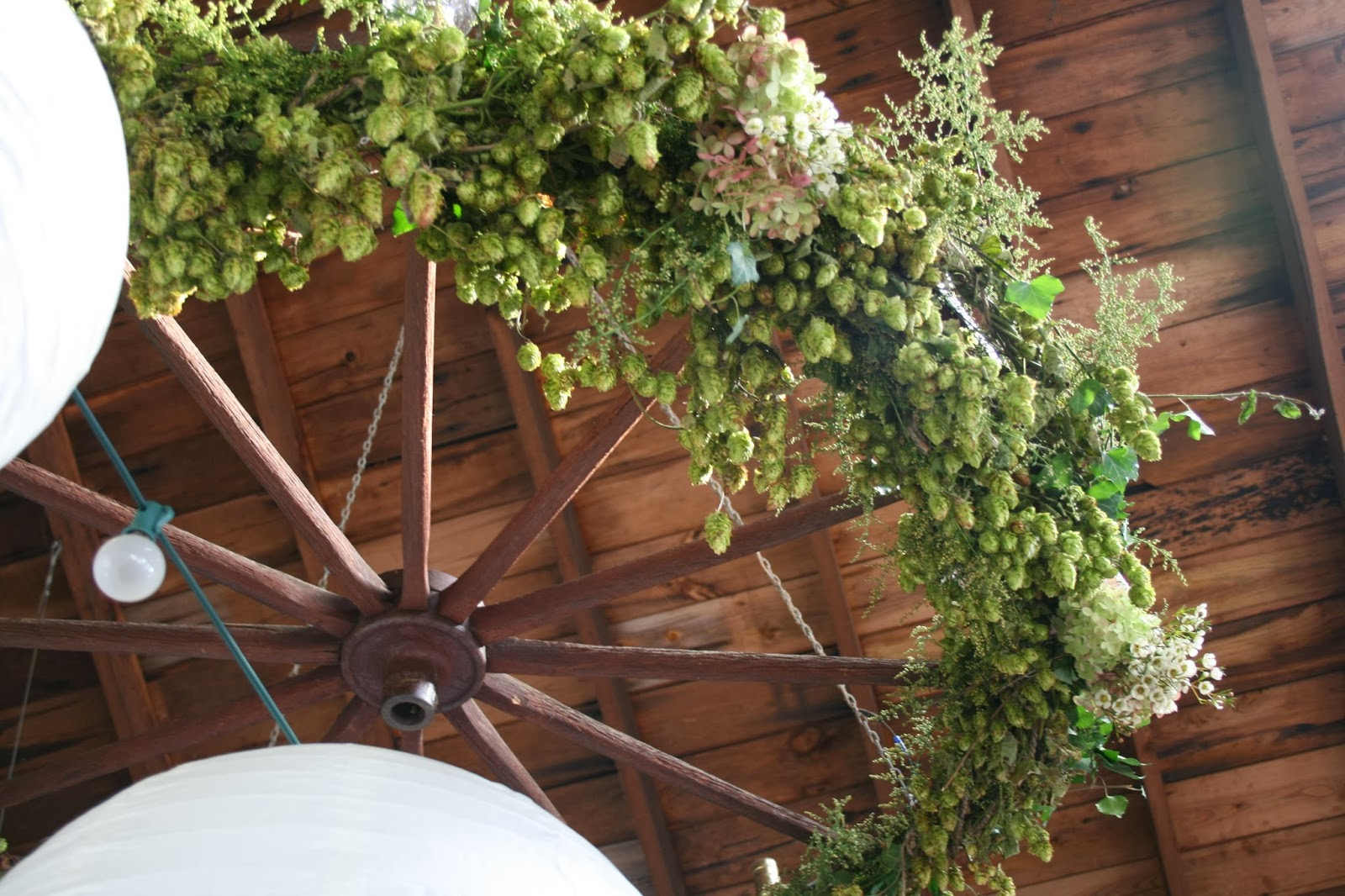 Hops For Decoration Muddy Feet Flower Farm A Wedding In The Woods