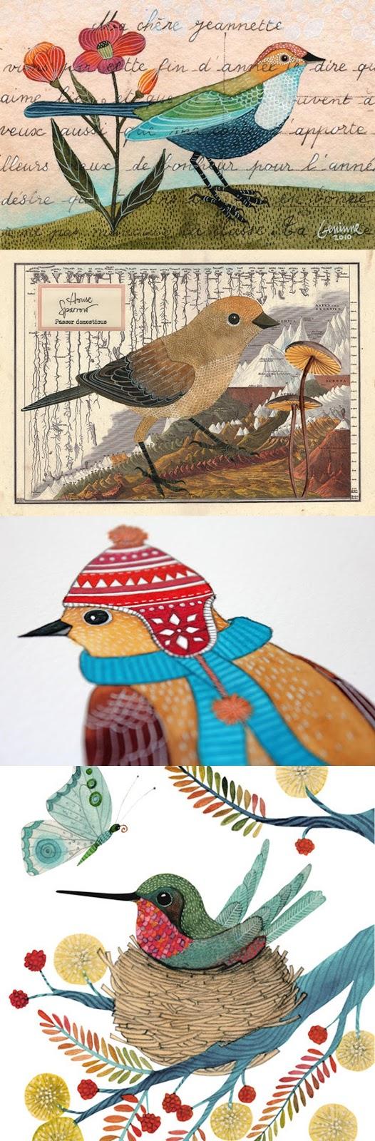 ilustrações fofas de Geninne Arts