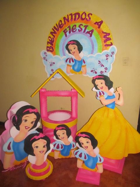 Decoracion fiesta princesa disney blanca nieves - Decoracion fiesta princesas disney ...