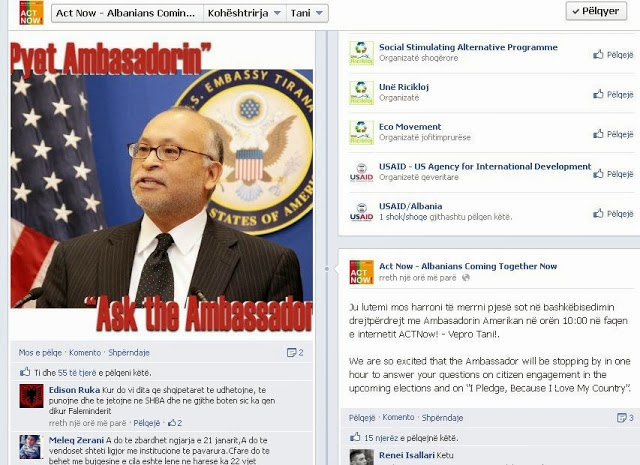 Questions: SManalysis. asks the US Ambassador for issues of the Himara Region on Facebook