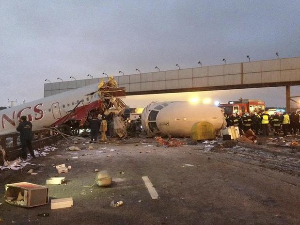 Graban desde un coche accidente avion Rusia