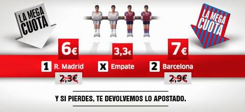 marca apuestas megacuota clasico Real Madrid vs Barcelona 19-25 octubre