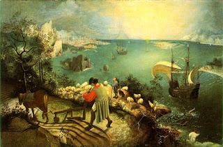 Paisaje con la caída de Ícaro - Pieter Brueghel El Viejo (dudoso)