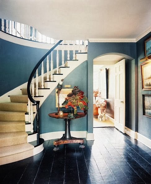 Dark Foyer Paint : Designingluxury staircases we love