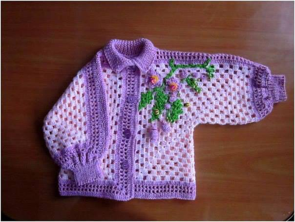 Crochet Granny Square Sweater Pattern : Crochet Patterns to Try: Crochet Granny Square Style Baby ...
