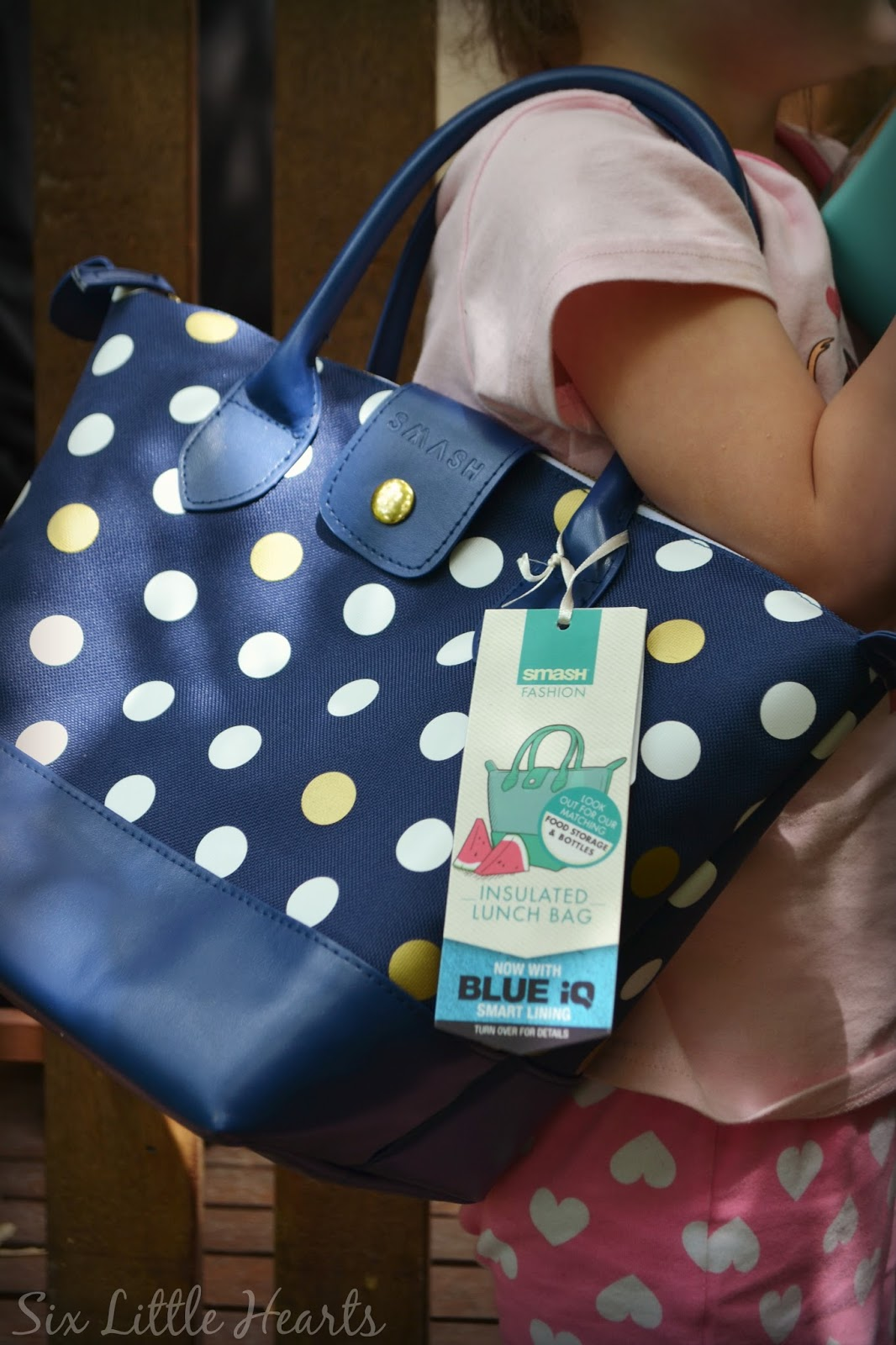 Three Year Old Celeste Chose This Fashionable Polka Dot Insulated Lunch Bag With Blue Iq Smart Lining Darn Too Because That S One Mummy Likes In