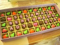 55 cavities choc praline with letters