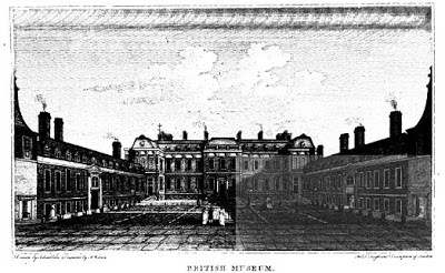 The British Museum   from London; being an accurate history and description  of the British Metropolis and its neighbourhood Volume IV    by David Hughson (1807)