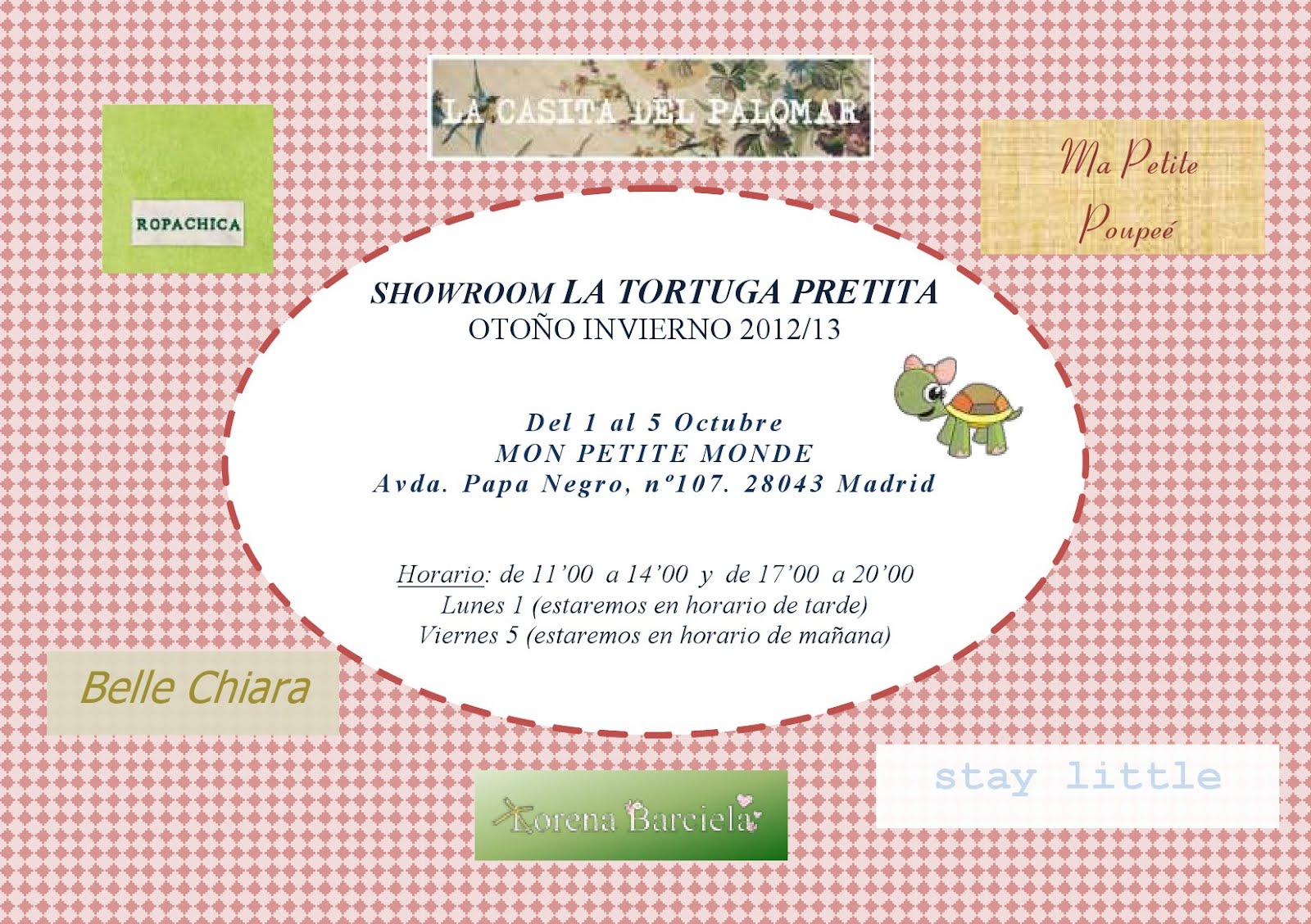 Invitación Showroom Moda Infantil
