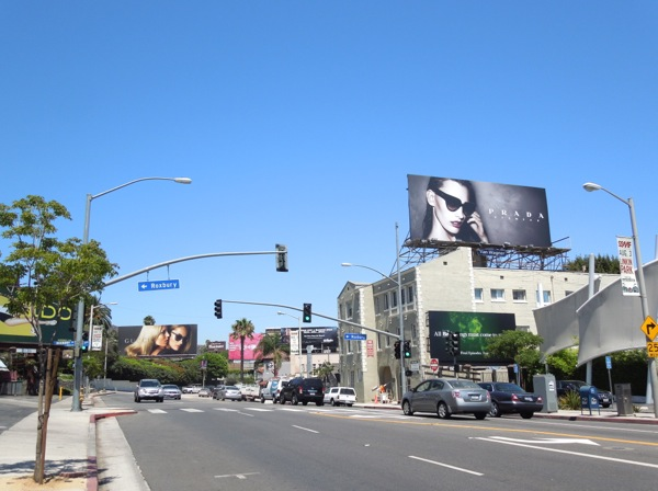 Gucci Prada eyewear billboards Sunset Strip
