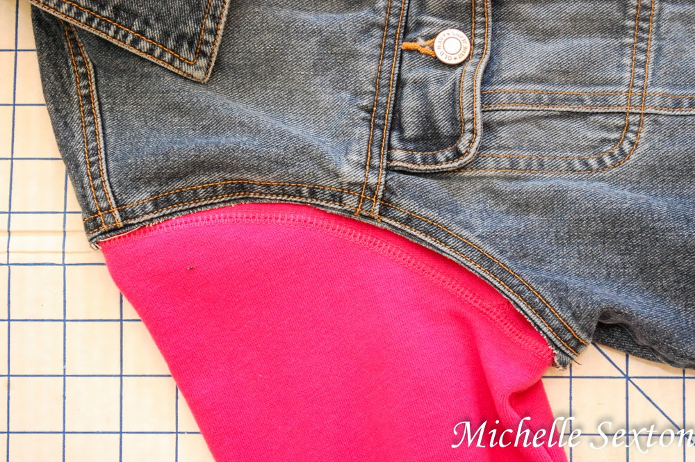 Line up the seams from both articles of clothing as best as possible