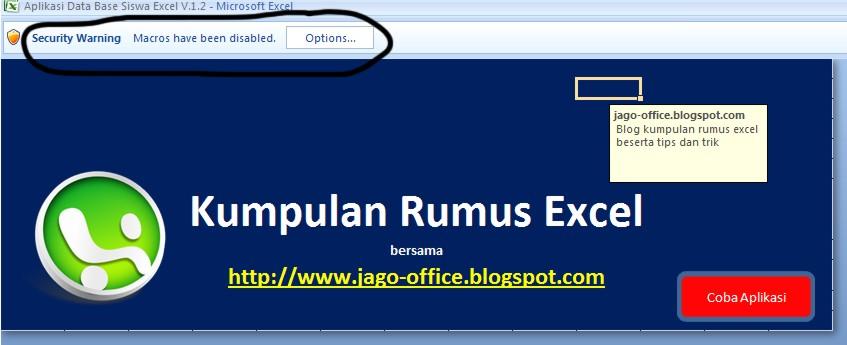 Aplikasi Membuat Database Siswa DI Excel   Arminaven Gayo