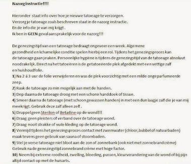 Richtlijnen volgens L.C.H.V.!!!