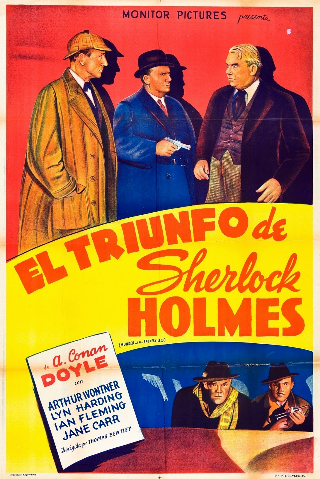 Spanish Film Poster For The Triumph of Sherlock Holmes 1935