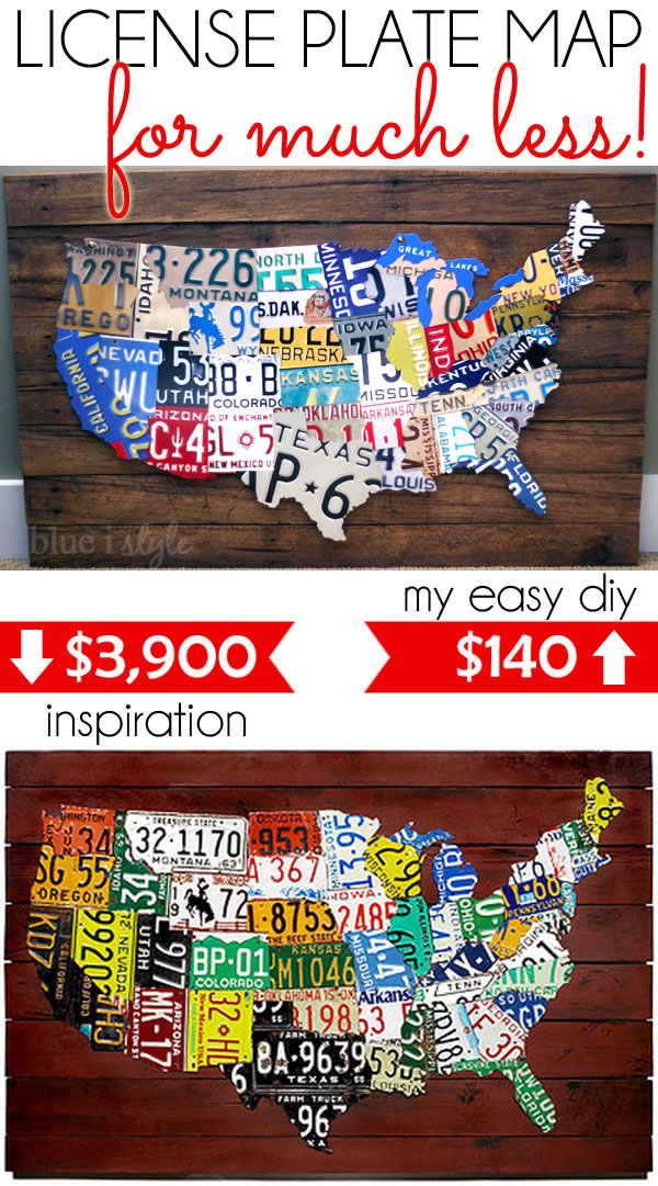 License Plate Map for Much Less