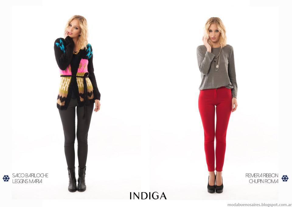 Ropa de mujer de la colección Indiga marca Argentina de moda casual urbana. Moda otoño invierno 2014.