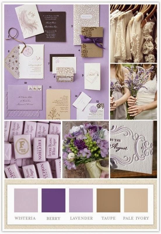 Paleta de colores para la boda