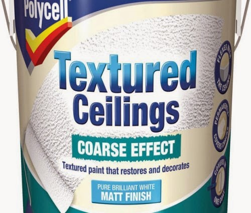 Polycell Textured Ceilings Course Effect