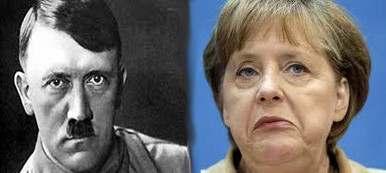 Angela Merkel y Hitler