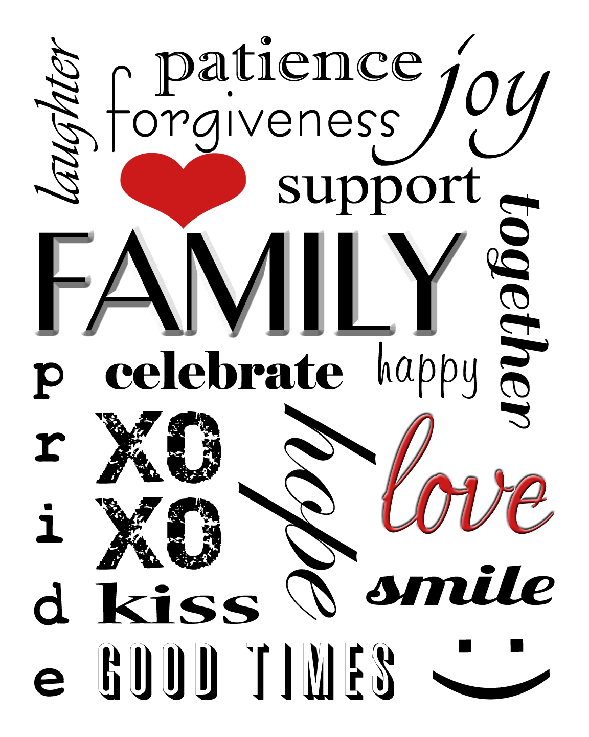 Winnerdogfinds free printable family subway art free printable family subway art pronofoot35fo Image collections