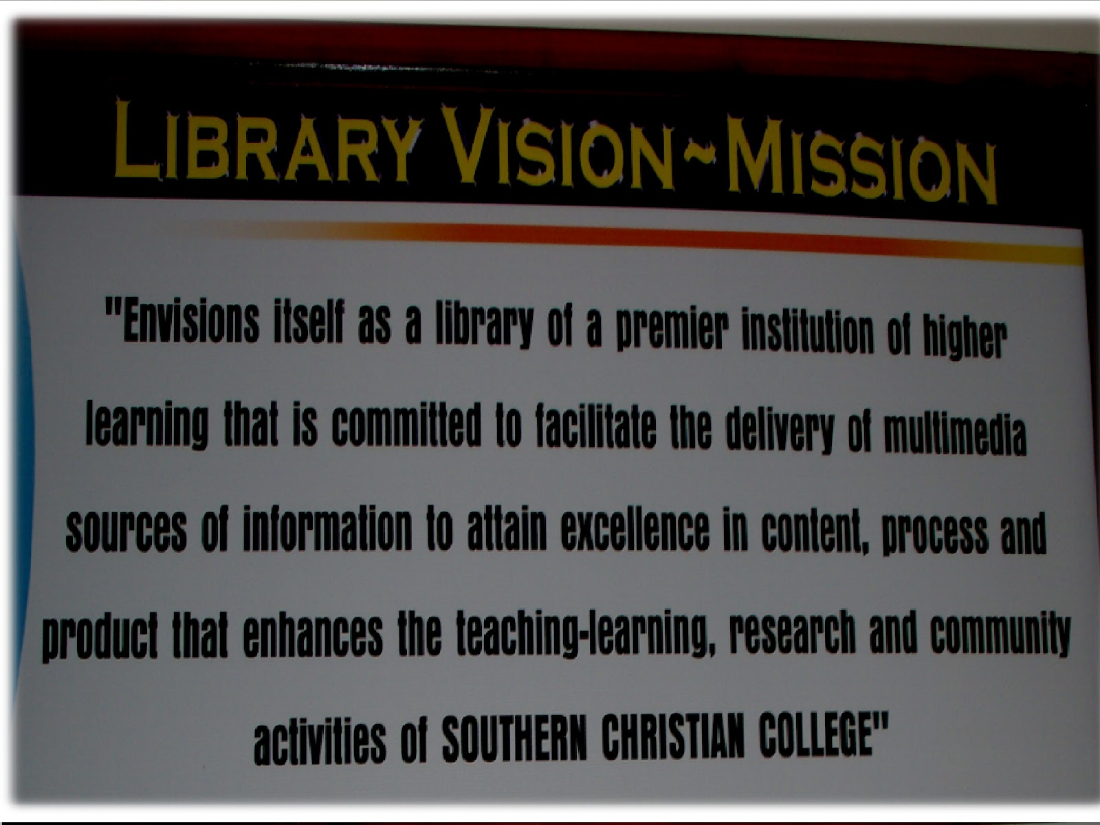 Visionmission Of The Library